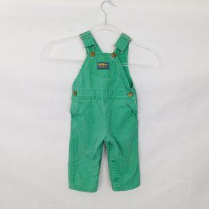 Vintage OshKosh B'Gosh Green Overalls 12 Months Vestbak